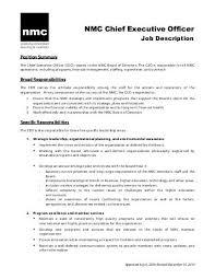 ceo job description   liveceo job description  approved        new media consortium