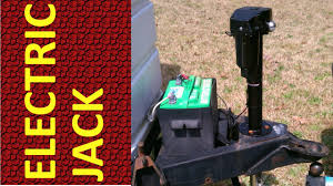 electric jack installation on travel trailer