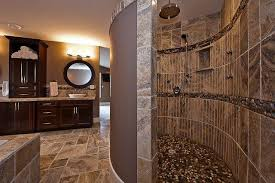 Innovative Ideas Stone Walk In Shower Fresh Idea Spiral Doorless Pictures  HOUSE DESIGN And OFFICE