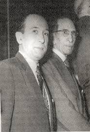 Alfonso Roque Albanese (left) with Eugenio Galli at the Faculty of ...
