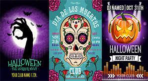 60 Free Halloween Posters Invitation Flyers Print