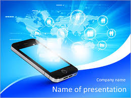 technology background for powerpoint modern communication technology illustration with mobile phone and