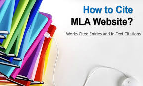 Work Cited Mla Websites How To Cite Mla Website Works Cited Entries And In Text