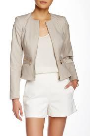 Nordstrom Rack Petite Coats Modern American Designer Cropped Peplum Hem Jacket Petite 74