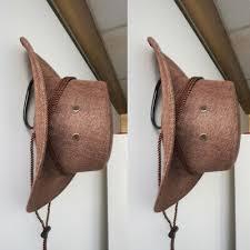 2x diy metal adjustable cowboy hat rack