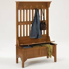 Hall Storage Bench And Coat Rack Furniture Entryway Bench With Shoe Storage Made From Black Painted 41