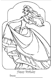 Happy Birthday Princess Coloring Pages At Getdrawingscom Free For