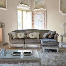 grey velvet sectional. High End Italian Designer Grey Velvet Sectional Sofa