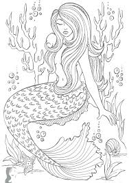 Mermaids Coloring Pages Mermaid Page For Adults To Print Printable
