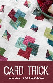 Card Trick Quilt Pattern Classy Card Trick Tutorial The Cutting Table Quilt Blog Bloglovin'