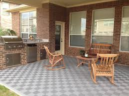 patio flooring after