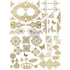 Gilded Design Redesign Gold Transfer Gilded Baroque Scrollwork