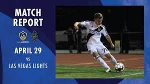 Las Vegas Lights Fc Vs La Galaxy Ii Match Report La Galaxy Ii Earn Second Shutout Result Of The