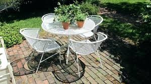 full size of round wrought iron patio table with glass top metal parts white umbrella hole