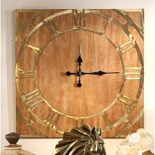 large wood wall clock wooden nz