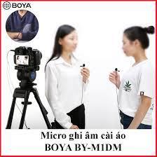 PHIÊN BẢN MỚI] Micro ghi âm cài áo Boya BY-M1DM 2 mic thu âm cho 2 người  cùng lúc,làm youtube, vlog cực tốt d2tshop giảm chỉ còn 460,000 đ