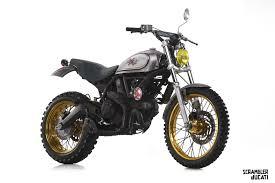 custom ducati scramblers on show at verona motor bike expo