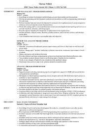 Senior Programmer Analyst Senior Resume Samples Velvet Jobs