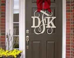 front door monogramFront door letter  Etsy
