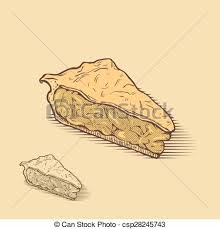 apple pie slice drawing. Brilliant Pie American Apple Pie Hand Drawn Illustration And Apple Pie Slice Drawing T
