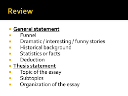 chunyan shao shandong university  an essay has three parts   funny stories  historical background  statistics or facts  deduction  thesis statement  topic of the essay  subtopics  organization of the