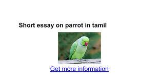 short essay on parrot in tamil google docs