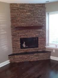 12 photos gallery of 12 elegant corner stone fireplace