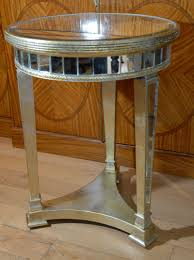 inspiring mirrored side table for living room decoration design ideas good picture of round mirrored