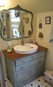 would be adorable if sink resembled those old wash basins sitting on top of the dresser with the faucet coming out of what looks like