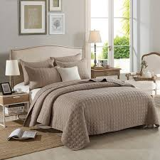 Solid Oversize Bedspread Coverlet Circle Pattern Comforter 100 ... & Solid Oversize Bedspread Coverlet Circle Pattern Comforter 100% Cotton Quilt  With 2pcs Pillow Shams Home Adamdwight.com