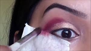 traditional indian stani bridal smokey eye makeup tutorial