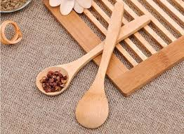 13cm wooden tea spoon feeding small wooden kid baby child safety spoon coffee spoon baby spoons