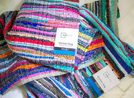 image of the kitchen rugs used to create this diy purse