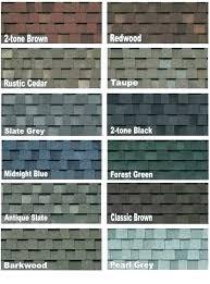 Oakridge Shingles Color Chart Owens Corning Roofing Colors Opticmesh Co