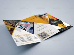 2 Folded Brochure Template Fitness Gym Tri Fold Brochures Template 2 Tri Gym