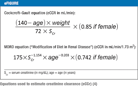 equations used to estimate creatinine clearance efigure equations used to estimate creatinine clearance