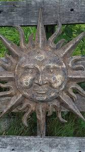 metal garden decor metal sun wall art