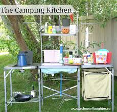 one of the reasons that i love this camping kitchen is that it comes with some really awesome usable space that allows the picnic table to be used for
