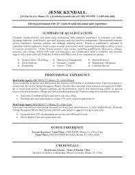 Eal Estate Agent Resume Template Example With Summary Of