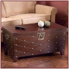 nailhead trunk coffee table design ideas