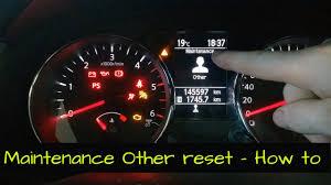 Nissan Qashqai Malfunction Warning Light Red Maintenance Other Reset In A Nissan Qashqai Diy