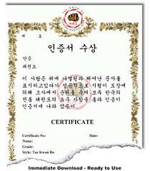 martial arts certificate template taekwondo certificate templates korean martial arts certificate
