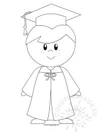Kindergarten Graduation Coloring Pages Kindergarten Boy Graduation Coloring Page