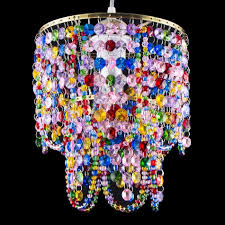 dia7 8 gypsy color crystal shade chandelier ceiling pendant lamp bedroom