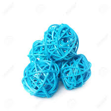 Decorative Straw Balls Pile Of Decorative Colored Straw Balls Isolated Over The White 1