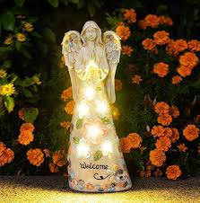 garden lights angel outdoor decor