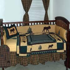 image of deer crib bedding style