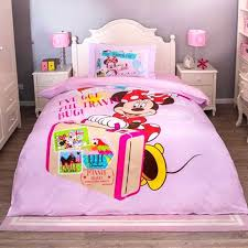 minnie mouse bedroom set kids bedding mouse bedding set cotton cartoon duvet cover sheet set single