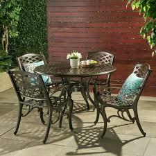 5pcs bronze cast aluminum dining set