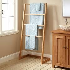 Towel Hanger Sylvia Teak Towel Hanger With 4 Levels Bathroom